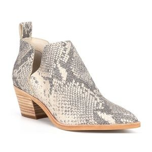 Dolce Vita Sonni Ankle Booties Snakeskin Leather 9